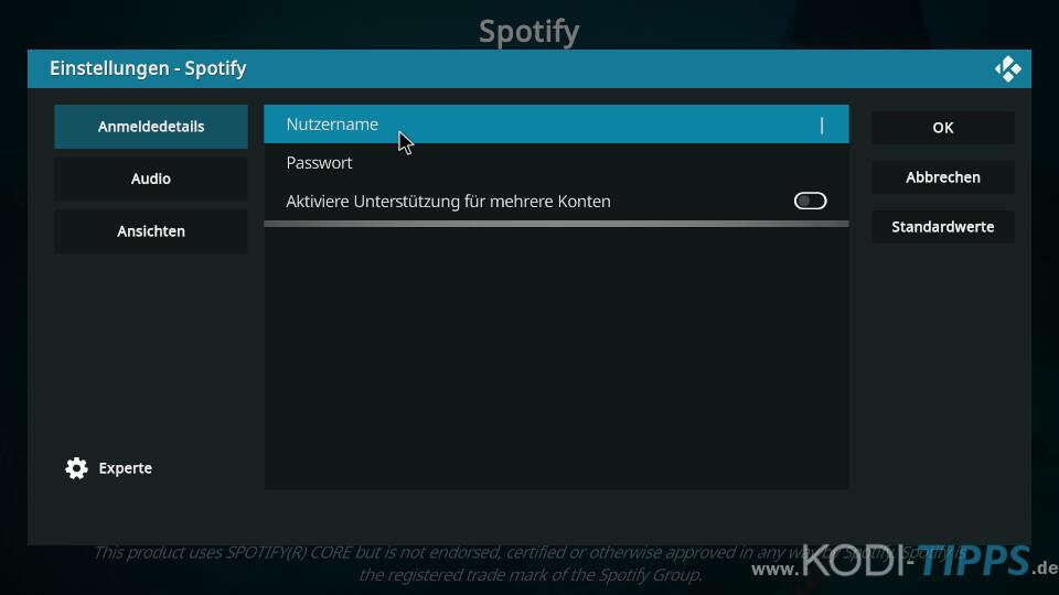 Spotify Kodi Addon installieren - Schritt 7