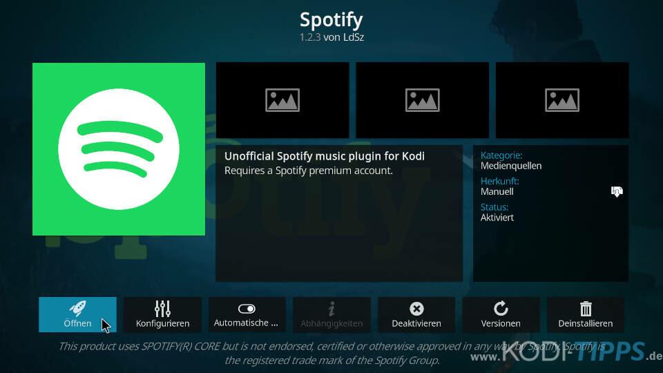 Spotify Kodi Addon installieren - Schritt 8