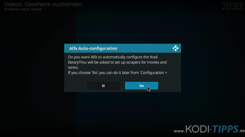 Alfa Kodi Addon installieren - Schritt 12