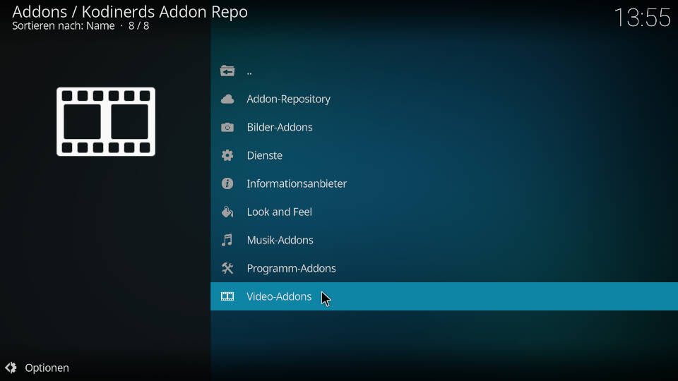 Deluxe Music Kodi Addon installieren - Schritt 1