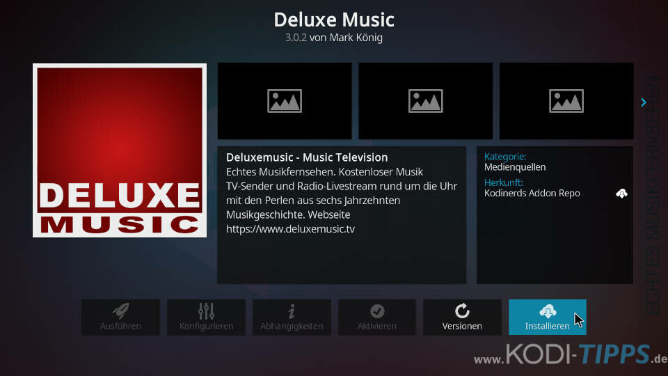 Deluxe Music Kodi Addon installieren - Schritt 3