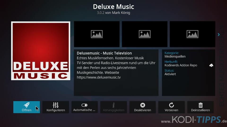 Deluxe Music Kodi Addon installieren - Schritt 5