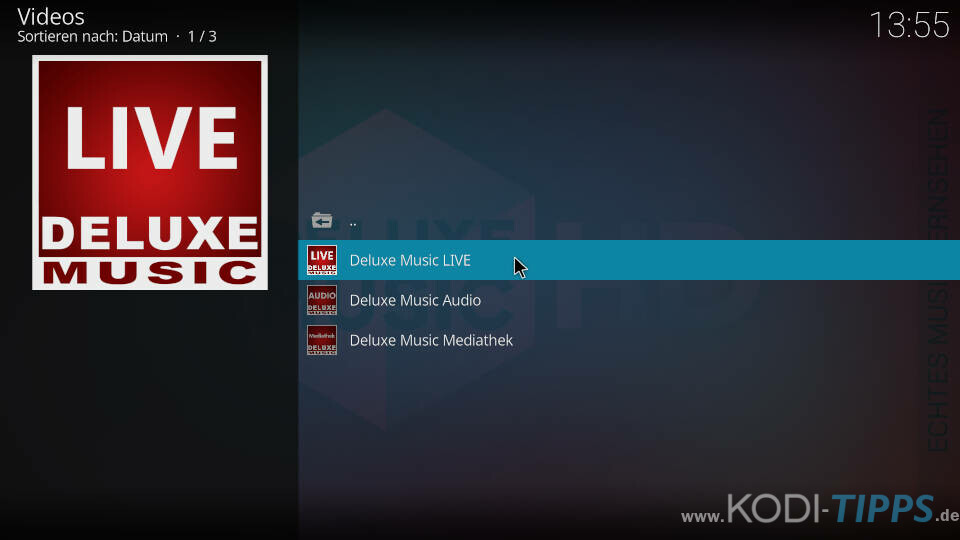 Deluxe Music Kodi Addon installieren - Schritt 6