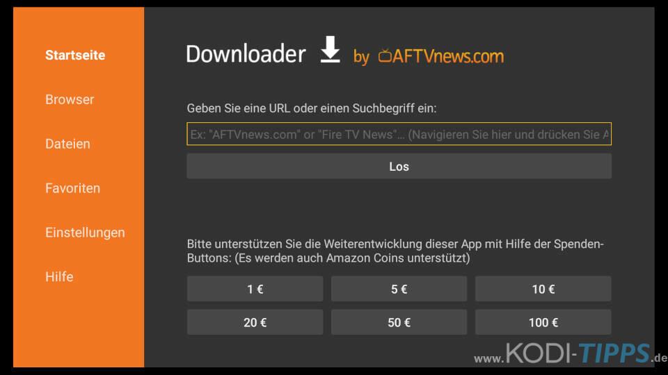 Downloader App für Amazon Fire TV installieren - Schritt 9