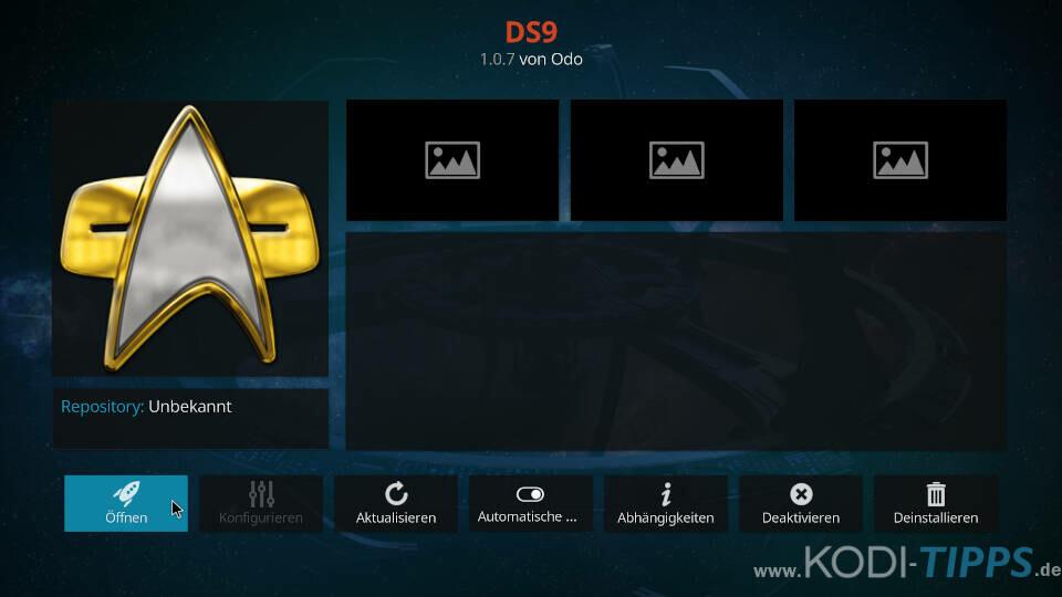 DS9 Kodi Addon installieren - Schritt 11