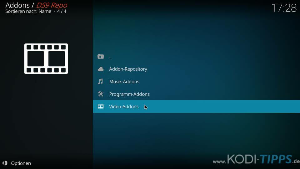 DS9 Kodi Addon installieren - Schritt 6
