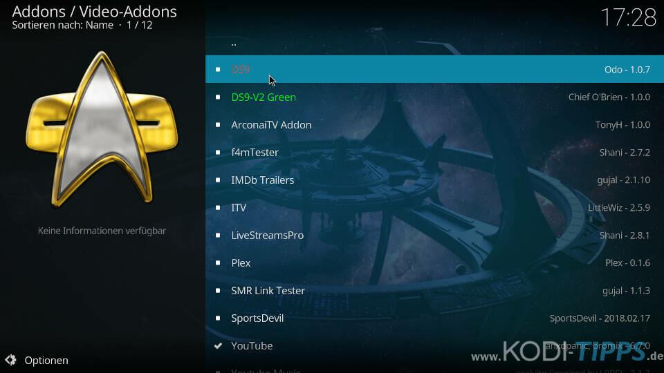 DS9 Kodi Addon installieren - Schritt 7
