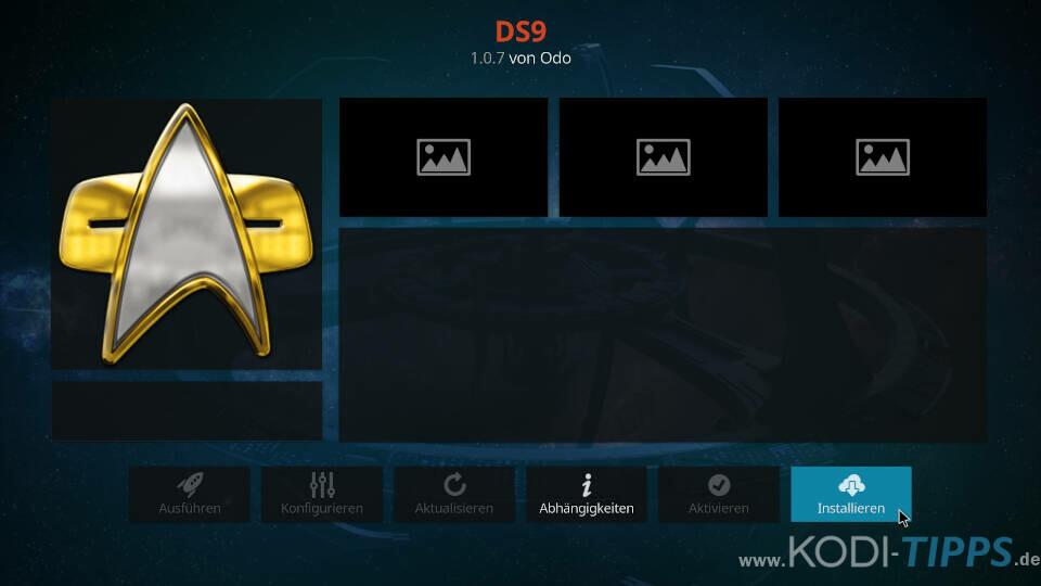 DS9 Kodi Addon installieren - Schritt 8