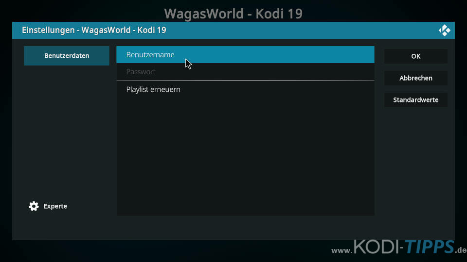WagasWorld Kodi Addon installieren - Schritt 11