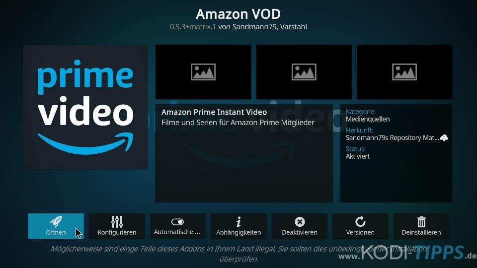 Amazon Prime Kodi Addon installieren - Schritt 11