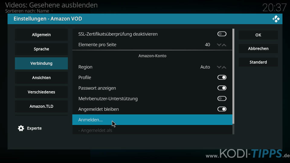 Amazon Prime Kodi Addon installieren - Schritt 12