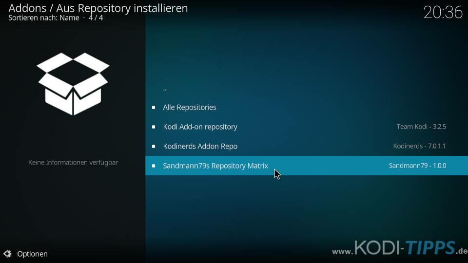 Amazon Prime Kodi Addon installieren - Schritt 5