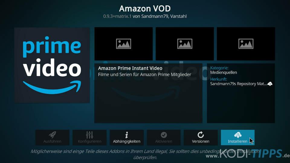 Amazon Prime Kodi Addon installieren - Schritt 8