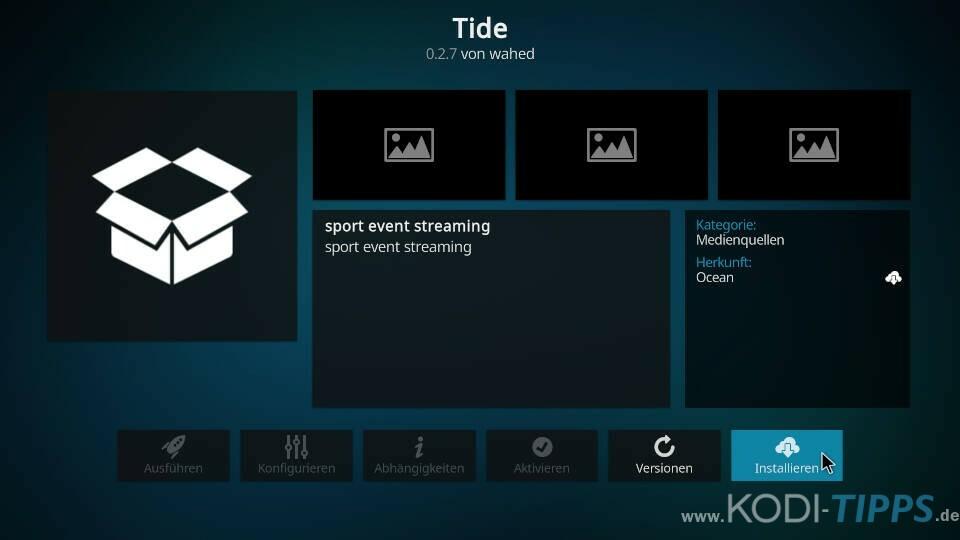 Tide Kodi Addon installieren - Schritt 7