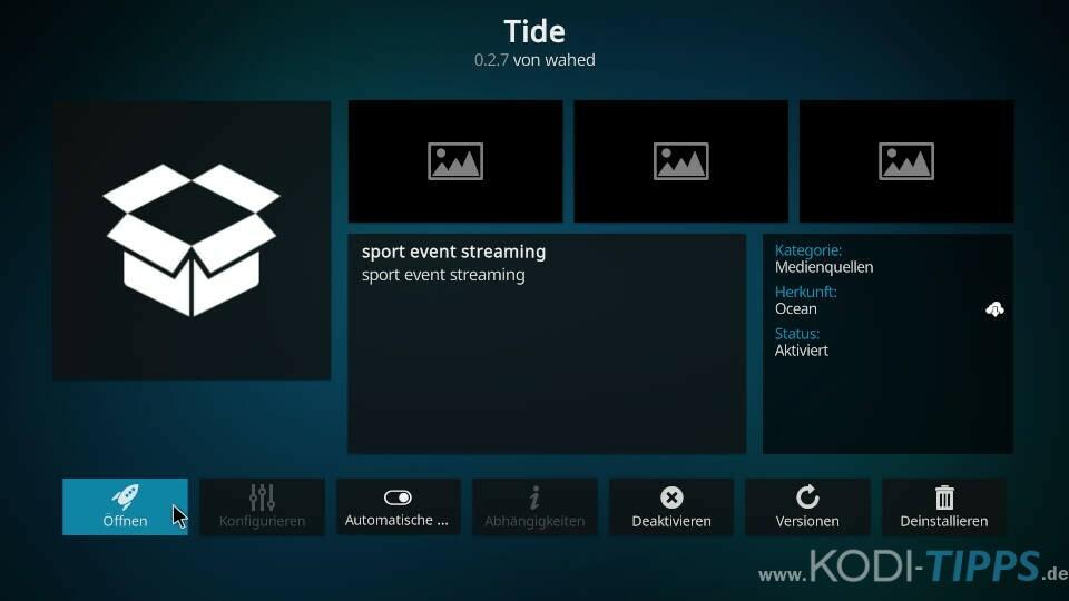 Tide Kodi Addon installieren - Schritt 9
