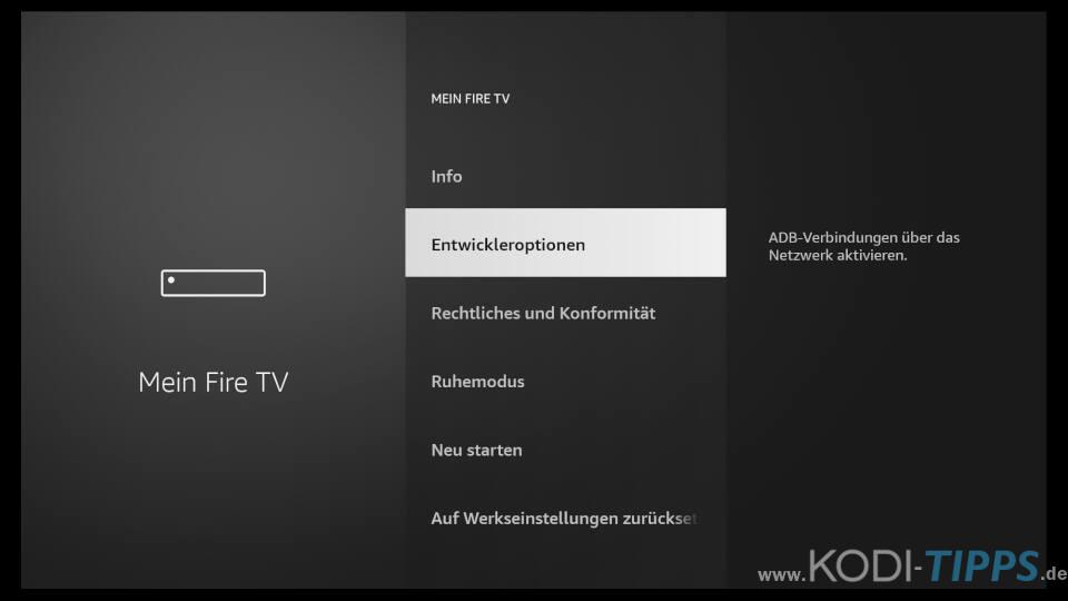 Amazon Fire TV Installation von Apps aus unbekannter Herkunft zulassen 2