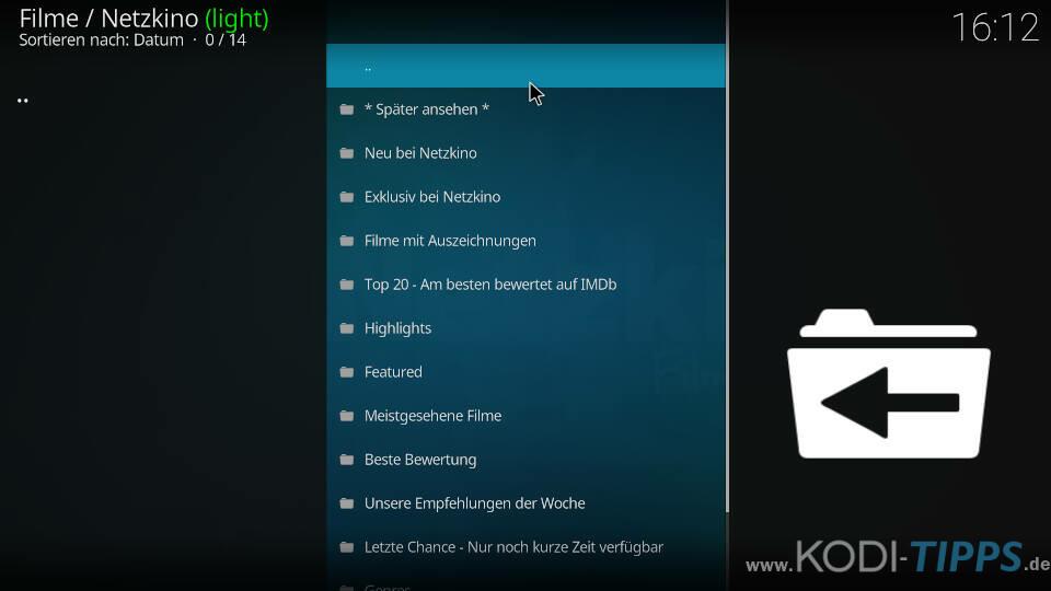 Netzkino Kodi Addon installieren - Schritt 6