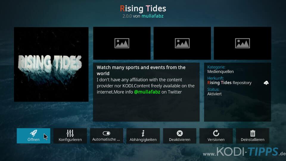 Rising Tides Kodi Addon installieren - Schritt 11