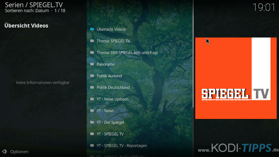 SPIEGEL TV Kodi Addon installieren - Schritt 7