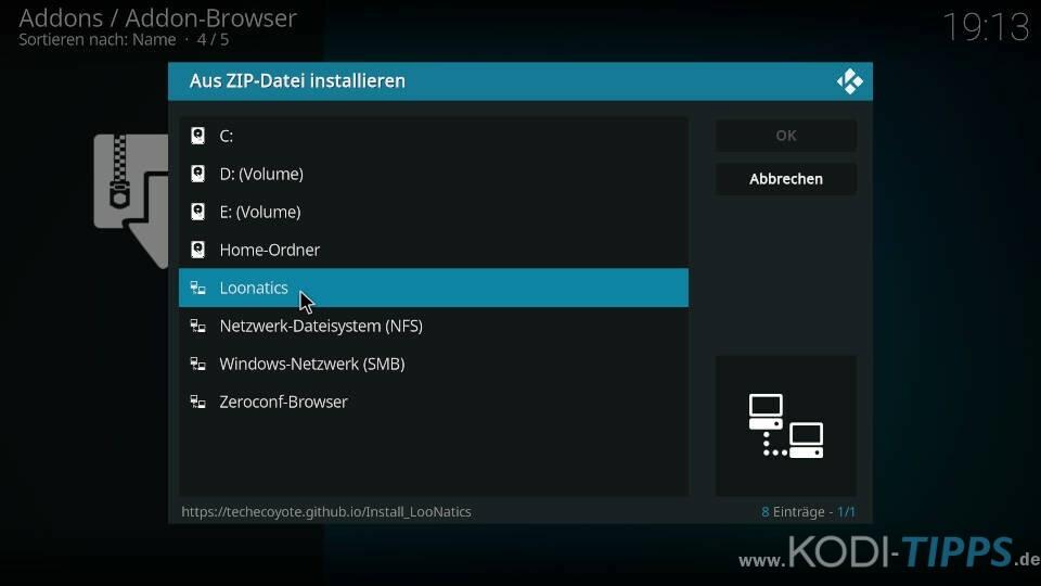 TvTap Kodi Addon installieren - Schritt 1