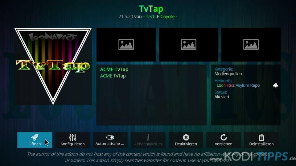 TvTap Kodi Addon installieren - Schritt 10