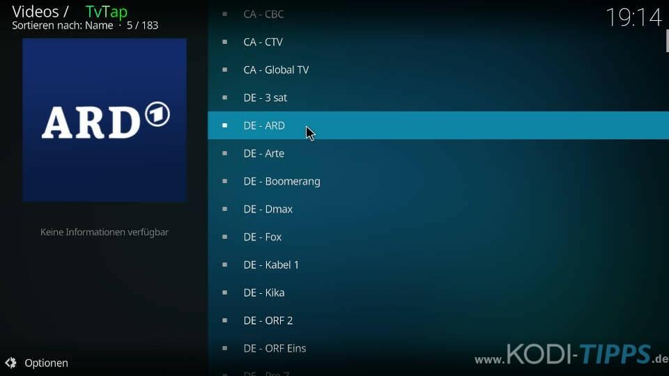 TvTap Kodi Addon installieren - Schritt 12
