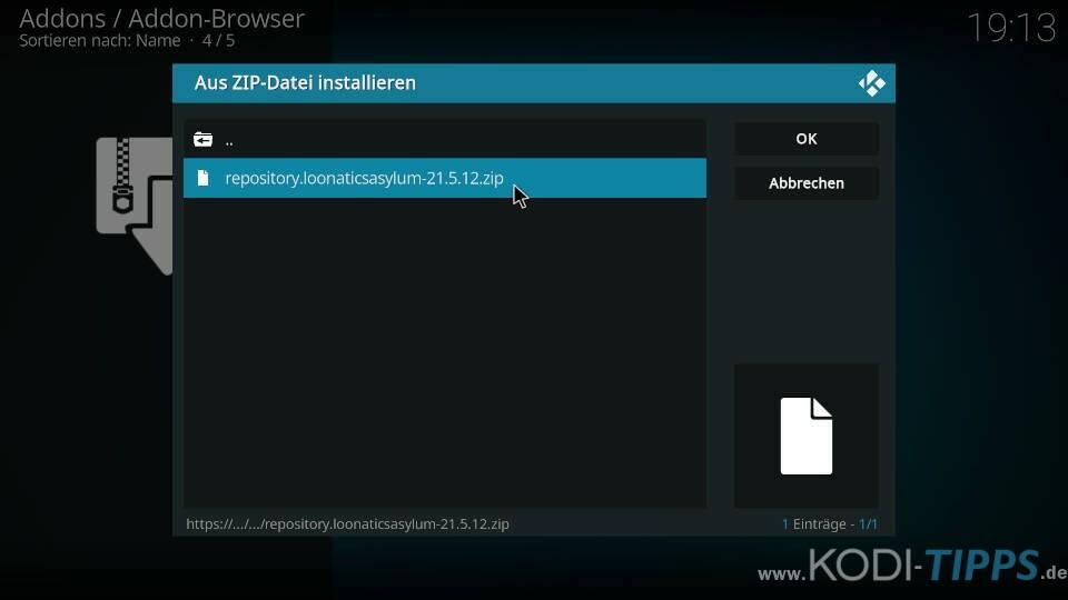TvTap Kodi Addon installieren - Schritt 2