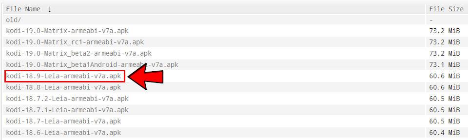 Kodi APK Android ältere Version herunterladen