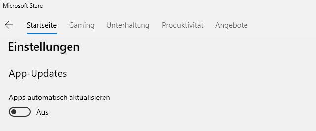 Automatische Updates für Windows App deaktivieren (Microsoft Store)