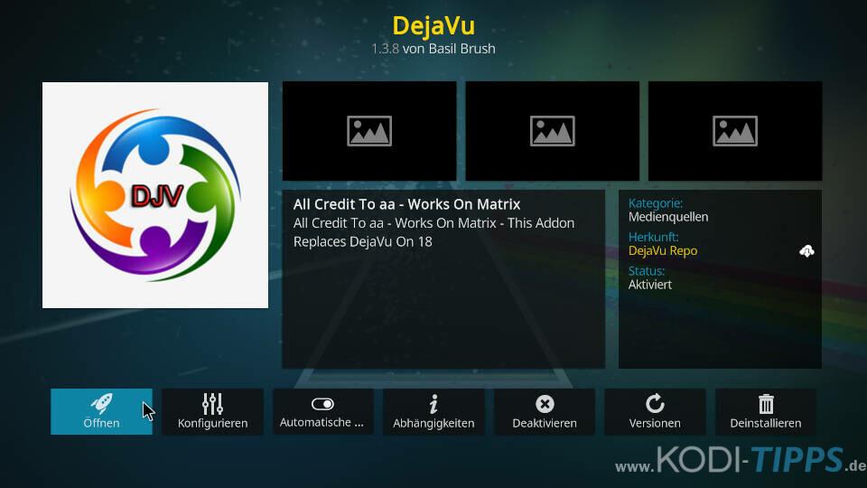 DejaVu Kodi Addon installieren - Schritt 11
