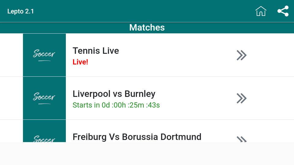 Lepto Sports APK Android App - Screenshot 1