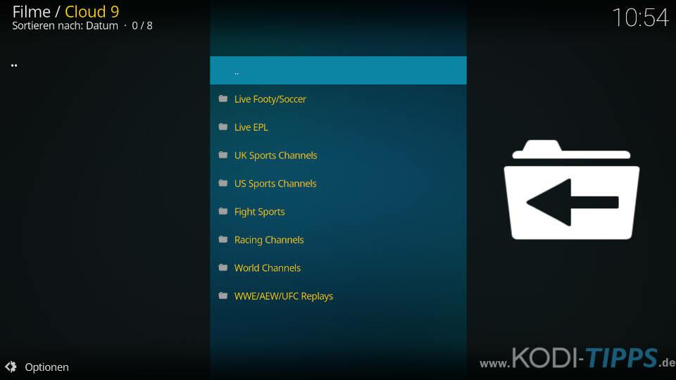 Cloud 9 Kodi Addon installieren - Schritt 12
