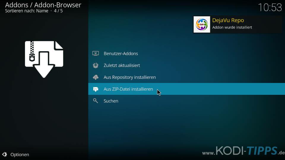 Cloud 9 Kodi Addon installieren - Schritt 3