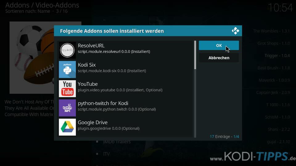 Cloud 9 Kodi Addon installieren - Schritt 9