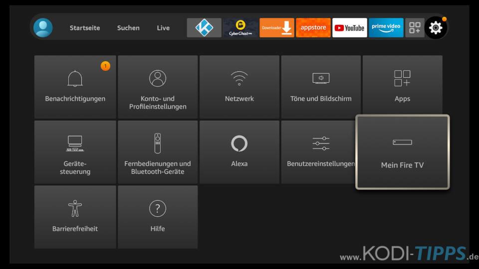 Dateien vom PC auf Fire TV übertragen - Schritt 1