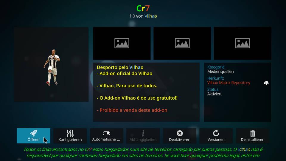 CR7 Kodi Addon installieren - Schritt 13