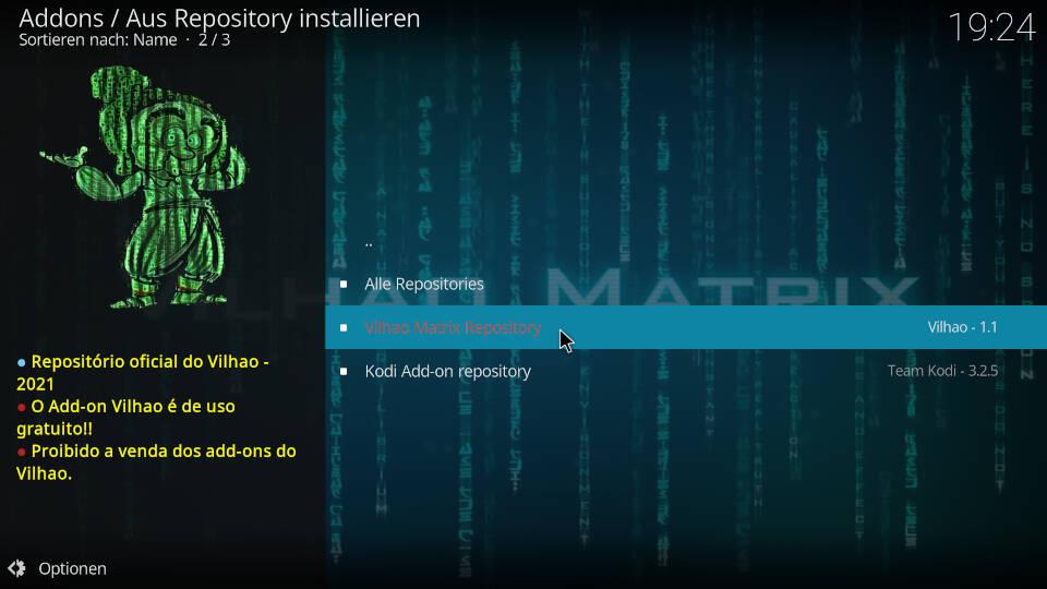CR7 Kodi Addon installieren - Schritt 5