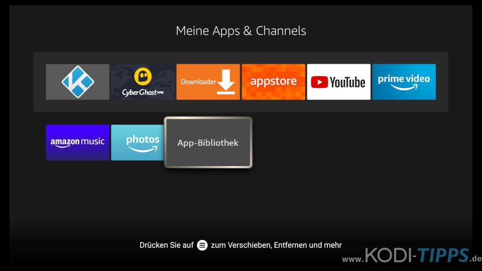 Fire TV Apps löschen - Schritt 5