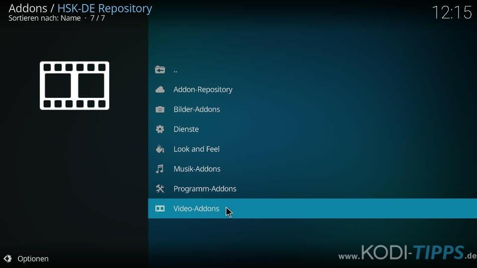 HD-Filme Kodi Addon installieren - Schritt 1