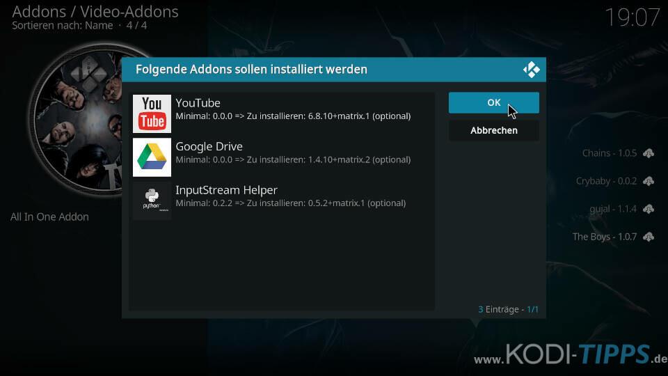 The Boys Kodi Addon installieren - Schritt 9