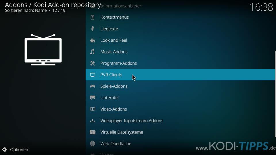 Stalker Client Kodi Addon installieren - Schritt 1