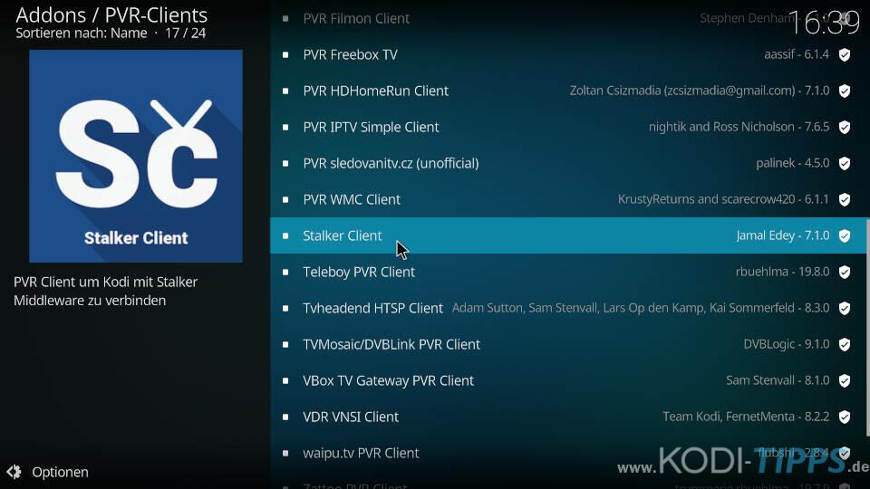 Stalker Client Kodi Addon installieren - Schritt 2