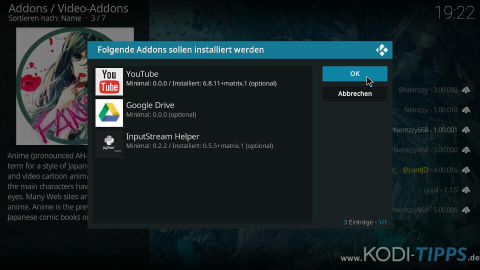 FANime Kodi Addon installieren - Schritt 9
