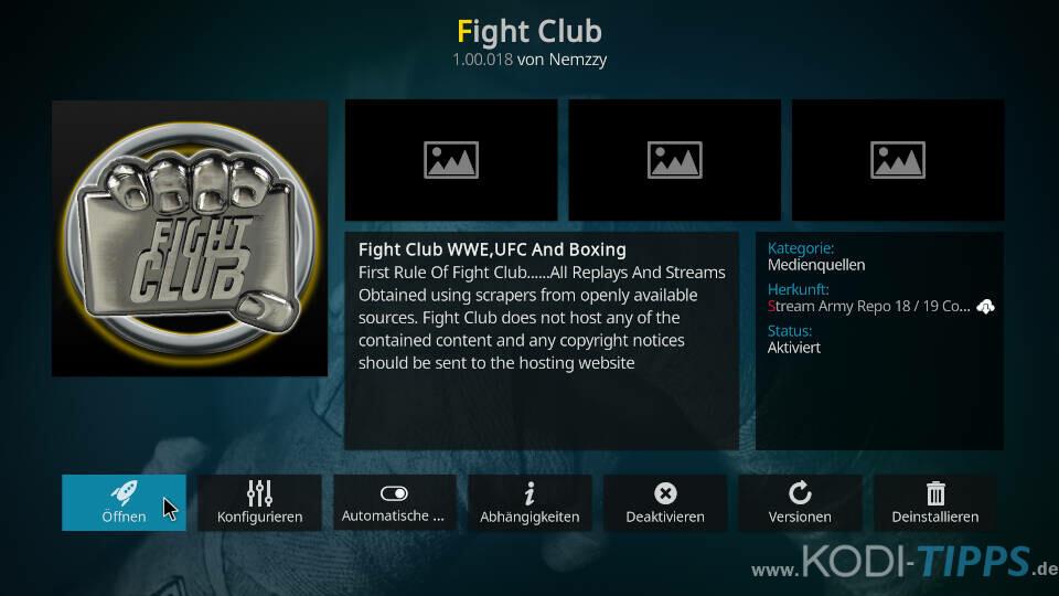 Fight Club Kodi Addon installieren - Schritt 11