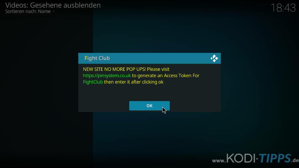 Fight Club Kodi Addon installieren - Schritt 12