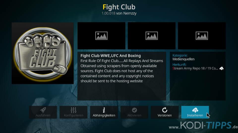 Fight Club Kodi Addon installieren - Schritt 8