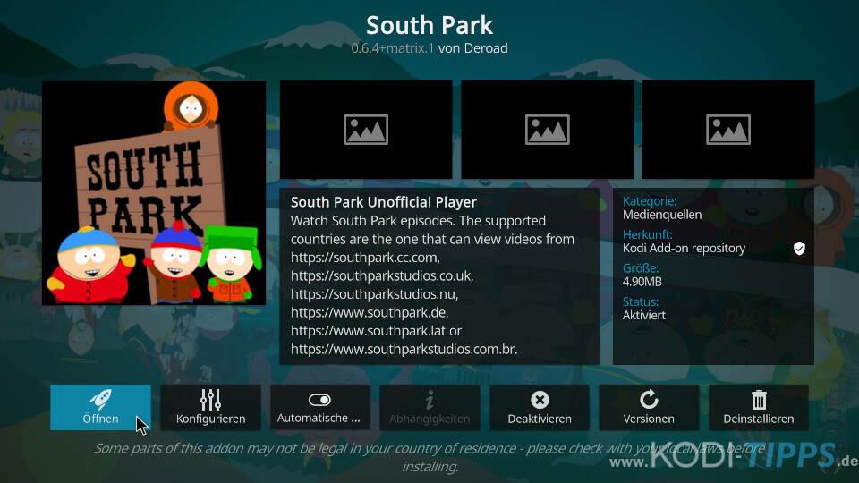 South Park Kodi Addon installieren - Schritt 8