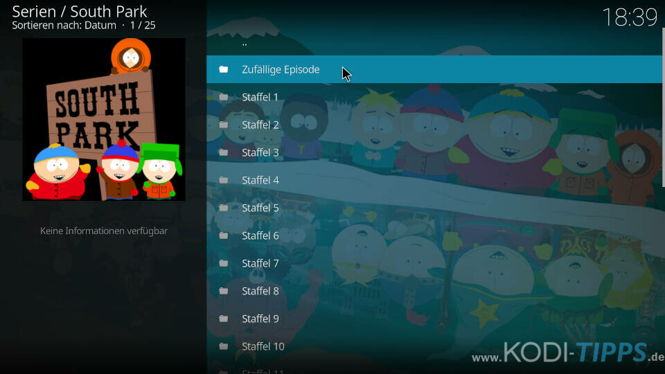 South Park Kodi Addon installieren - Schritt 9
