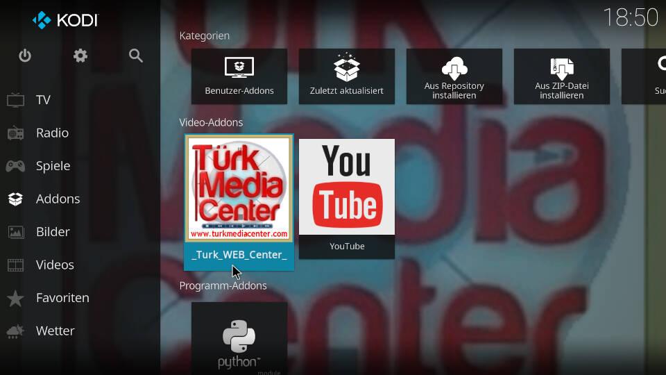 Turk Web Center Kodi Addon installieren - Schritt 11