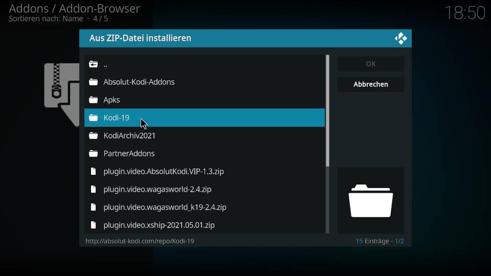Turk Web Center Kodi Addon installieren - Schritt 2